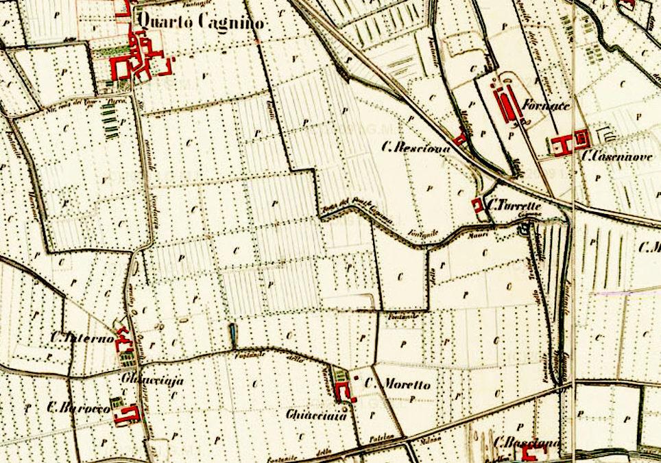 Storia della Piazza d'Armi, prima delle armi: cascine, fontanili e prati (prima parte)